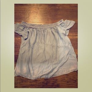 Old Navy XL Chambray Denim Elastic Off Shoulder
